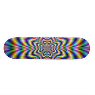 Planche à roulettes de fleur d'arc-en-ciel planches à roulettes customisées
