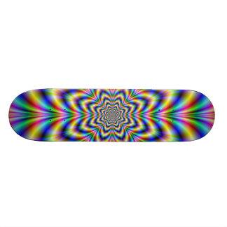 Planche à roulettes de fleur d'arc-en-ciel plateau de planche à roulettes