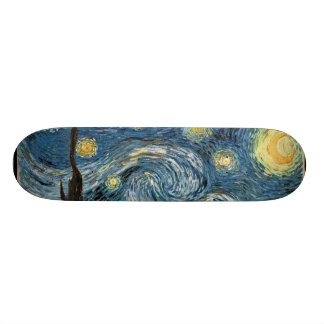 Planche à roulettes de nuit étoilée de Van Gogh Skateboards Cutomisables