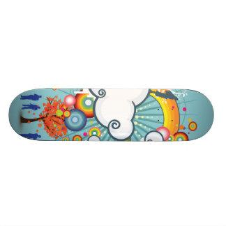 Planche à roulettes de personnes de nuage skateboard customisable