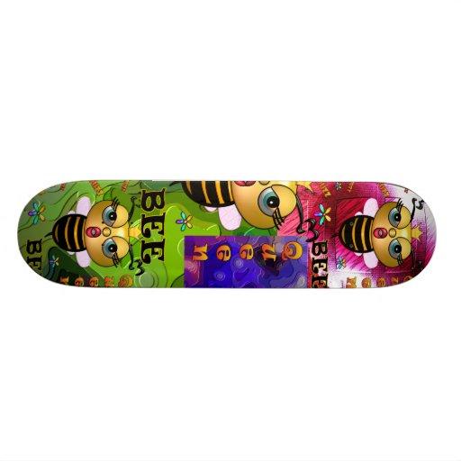 Planche à roulettes de reine des abeilles plateau de skate