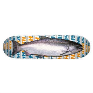 Planche à roulettes de saumon quinte skateboard