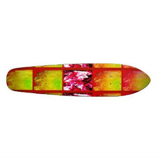 Planche à roulettes de série de feuille de fougère mini skateboard 18,4 cm