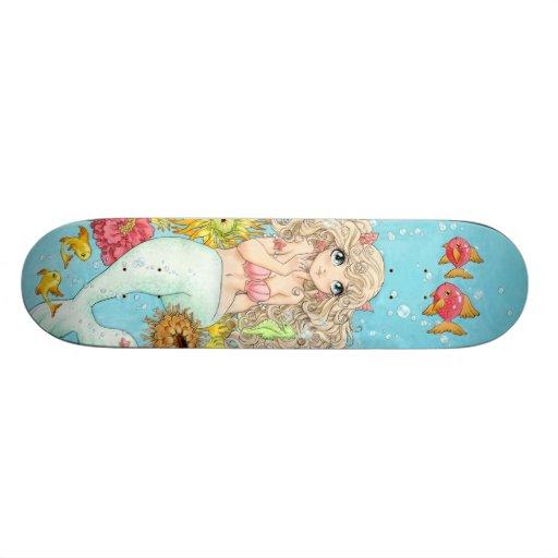 Planche à roulettes de sirène skateboards customisés