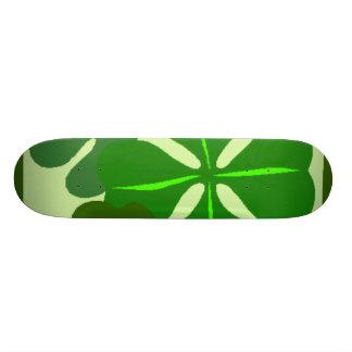 Planche à roulettes de trèfle de quatre feuilles skateboard old school 18,1 cm