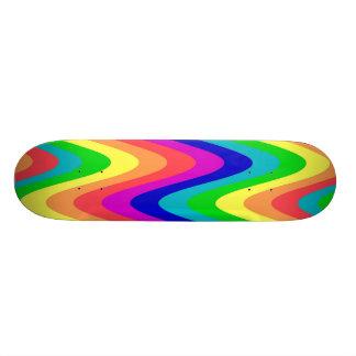 Planche à roulettes de vague d'arc-en-ciel plateau de planche à roulettes