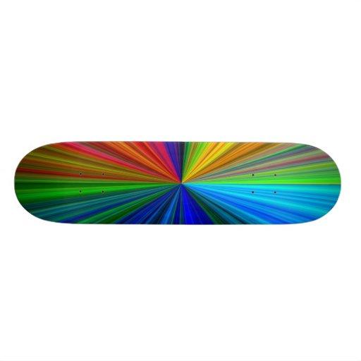 Planche à roulettes d'éclat d'arc-en-ciel skateboard customisable