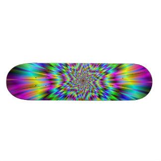 Planche à roulettes d'étoile d'arc-en-ciel skateboards personnalisés