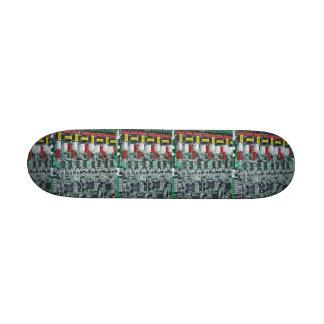 Planche à roulettes d'impression de puce skateboards customisés