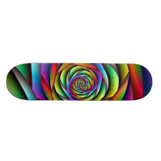 Planche à roulettes en spirale d'arc-en-ciel skateboards personnalisés