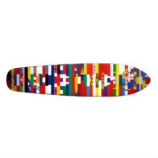 Planche à roulettes européenne de drapeaux