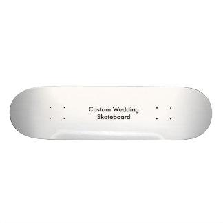 Planche à roulettes faite sur commande de mariage plateaux de skateboards