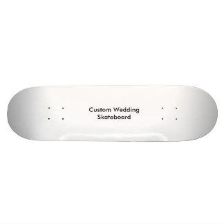 Planche à roulettes faite sur commande de mariage plateau de skate