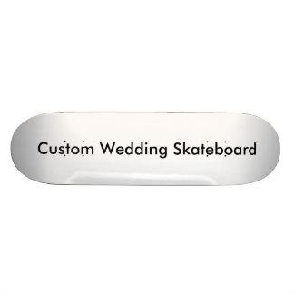 Planche à roulettes faite sur commande de mariage skateboards cutomisables