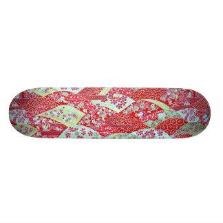 Planche à roulettes florale rouge de Yuzen Skateboard 20 Cm