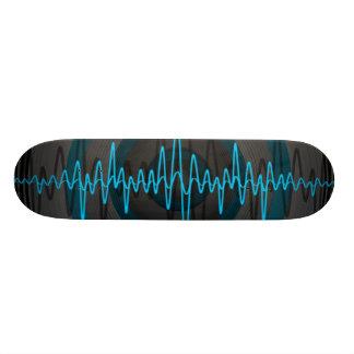 Planche à roulettes foncée bleu-clair saine plateau de planche à roulettes