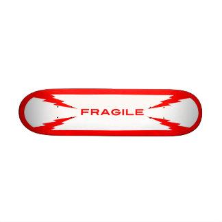 Planche à roulettes fragile de symbole mini plateaux de skateboards customisés