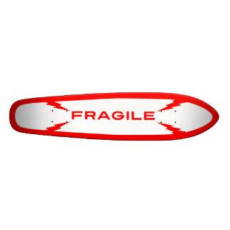 Planche à roulettes fragile Oldschool de symbole Plateaux De Planche À Roulettes