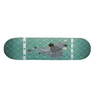 Planche à roulettes grunge d'étoile de zèbre de bl skateboards customisés