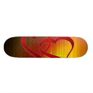 Planche à roulettes liée de coeurs plateaux de skate