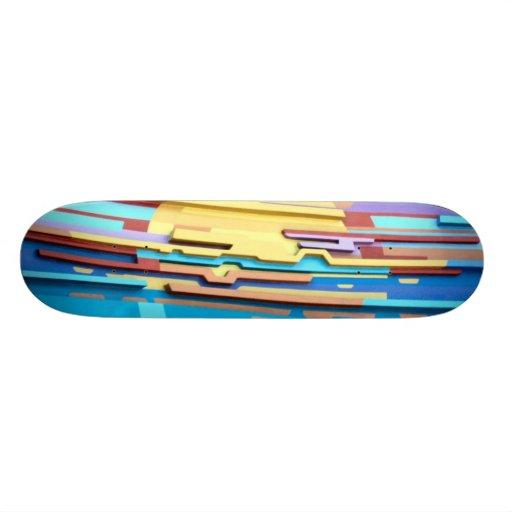 Planche à roulettes lumineuse de conception d'art  skateoard personnalisé