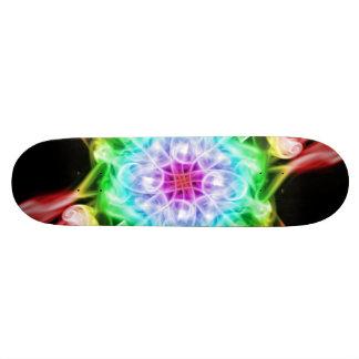 Planche à roulettes multicolore d'arc-en-ciel de plateaux de skateboards