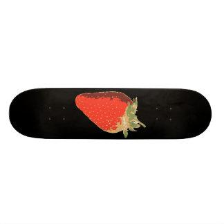 Planche à roulettes noire de fraise skateboard old school  21,6 cm