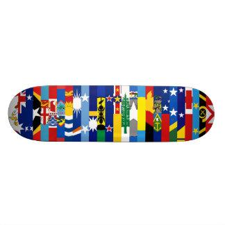 Planche à roulettes Oceanian de drapeaux