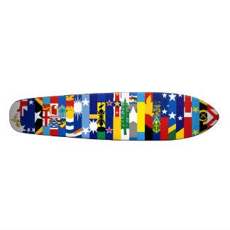 Planche à roulettes Oceanian de drapeaux Planches À Roulettes Customisées