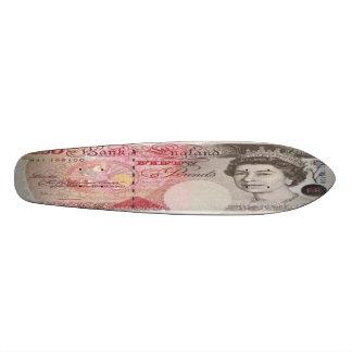 Planche à roulettes Oldschool de billet de banque  Planches À Roulettes Customisées