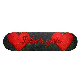 Planche à roulettes peinte de coeur plateaux de planche à roulettes