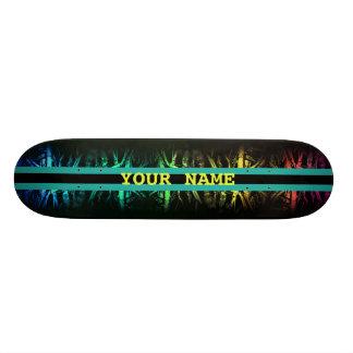 Planche à roulettes rayée d'arc-en-ciel sauvage skateboard 20,6 cm