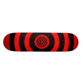 Planche à roulettes rouge de boudine planches à roulettes