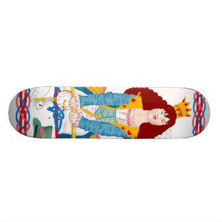 Planche à roulettes rouge de la Reine Skateboards Personnalisés