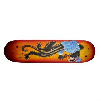Planche à roulettes suave de tatouage de panthère skateboard old school 18,1 cm