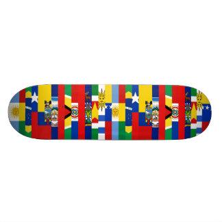 Planche à roulettes sud-américaine de drapeaux skateboards customisés