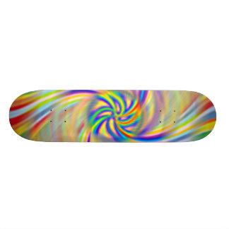 Planche à roulettes tournante d'arc-en-ciel plateau de skateboard