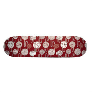 Planche à roulettes traditionnelle japonaise rouge planches à roulettes customisées