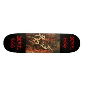 Planche à roulettes vintage de diable skateboard customisable