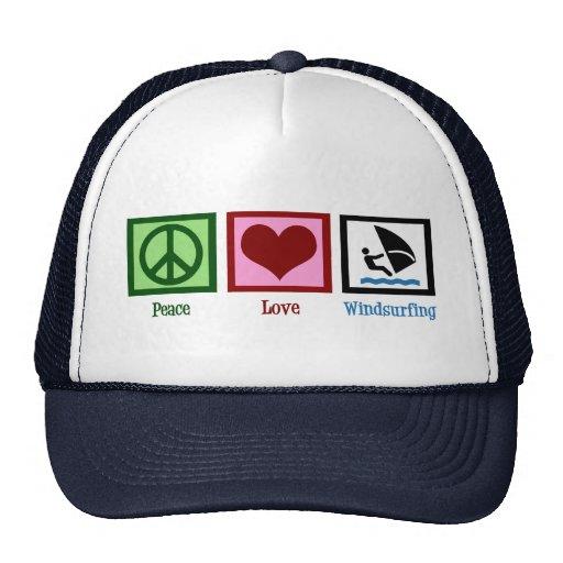Planche à voile d'amour de paix casquettes