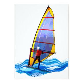 Planche à voile sauvage carton d'invitation  12,7 cm x 17,78 cm