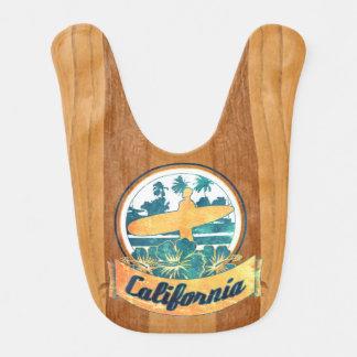 Planche de surf de la Californie Bavoir De Bébé