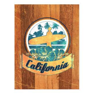 Planche de surf de la Californie Cartes Postales