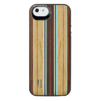 Planche de surf en bois de Koa de Faux de Nalu Hou Coque Batterie Pour iPhone SE/5/5s