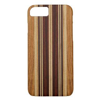 Planche de surf en bois de Koa de Faux de Nalu Lua Coque iPhone 8/7