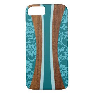 Planche de surf hawaïenne en bois de Faux de Coque iPhone 7