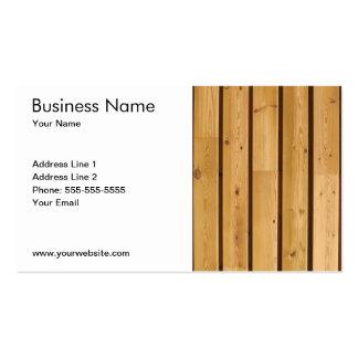 Planche en bois classique simple carte de visite standard