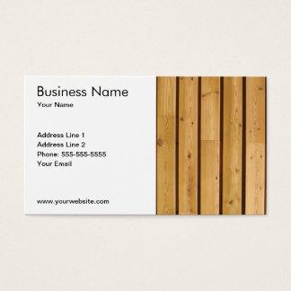 Planche en bois classique simple cartes de visite