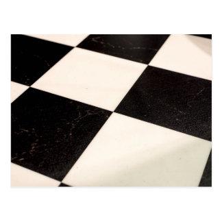 Plancher Checkered noir et blanc Carte Postale