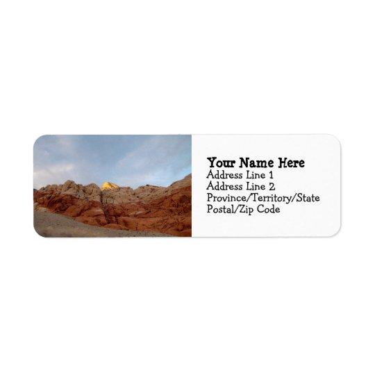 Plancher de désert au plafond étiquette d'adresse retour